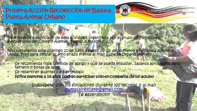 Primera Acción-Recolección de Basura Punta Arenas Urbano