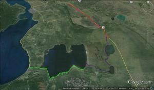 Area trabajada para esta investigación en la comuna de Puerto Natales, región de Magallanes