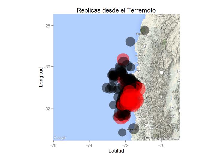 Mapa terremoto Illapel